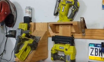 French Cleat system to store tools