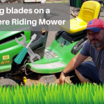Replacing blades on a John Deere riding lawn mower