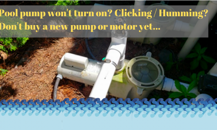 Pool pump won't turn on and is humming or clicking