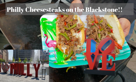 Philly Cheesesteaks with Peppers and Onions on the Blackstone Griddle