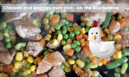Chicken with veggies over rice on the Blackstone Griddle – Weight Watchers 11 points