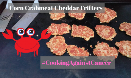 Corn Crabmeat Cheddar Fritters on the Blackstone Griddle