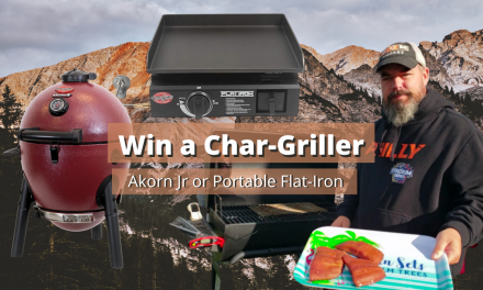 5000 Subscriber Contest – Win a Char-Griller Akorn Jr or Portable Flat-Iron!