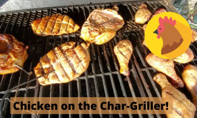 Chicken on the Char-Griller Smokin' Champ!
