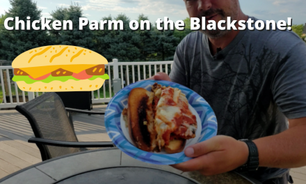 Chicken Parm Sandwiches on the Blackstone Griddle