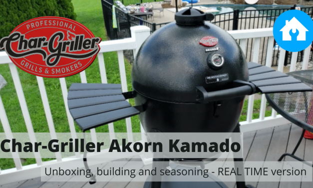 Char-Griller Akorn Kamado | Unboxing, assembly, seasoning | REAL TIME