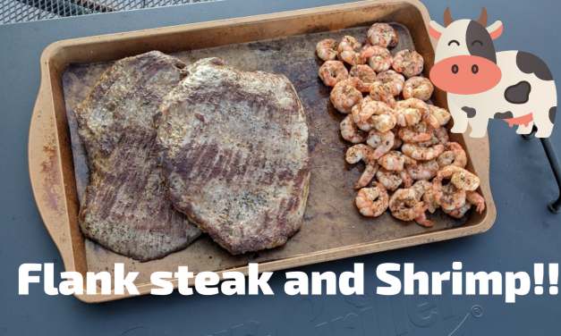 Flank Steak and Shrimp on the Char-Griller Flat Iron!