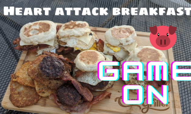 Killer breakfast sandwiches – Bacon, Egg, Cheese, Sausage, Pork Roll, hash browns on English Muffin!