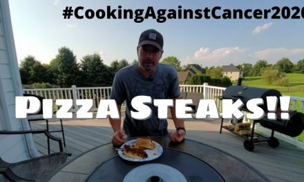 Pizza Steaks on the Char-Griller Flat Iron Griddle