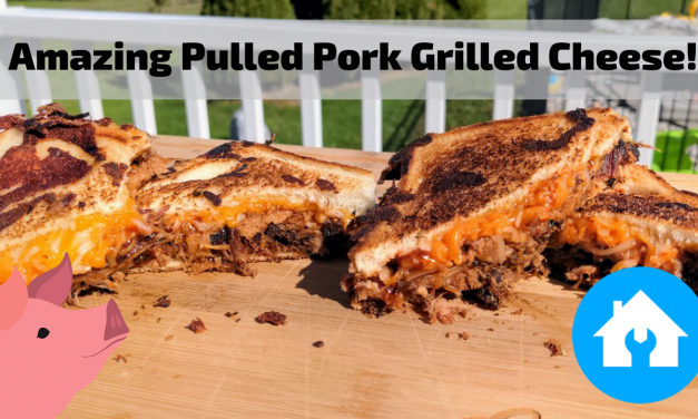 Amazing Pulled Pork Grilled Cheese Sandwiches on the Char-Griller Flat Iron Griddle!