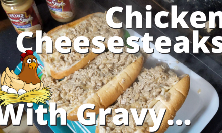 Chicken Cheesesteaks with Gravy on the Blackstone Griddle!