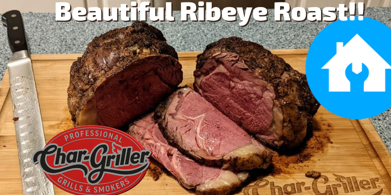 Beautiful Ribeye Roast on the Char-Griller Akorn | Kamado